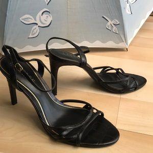 Black Ralph Lauren leather heels
